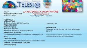 INCONTRO CONCLUSIVO PROGETTO PATENTE DI SMARTPHONE CLASSI PRIME SCUOLA SECONDARIA DI I GRADO - 4 giugno 2021